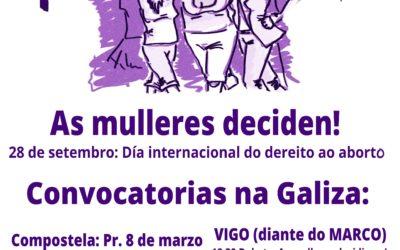 28 de setembro: día de acción global polo acceso ao aborto legal, seguro e gratuíto
