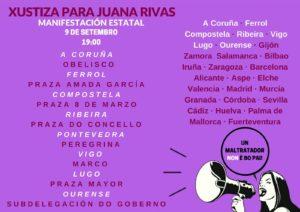 Cartaz convocatoria Galiza manifestación 9 de setembro