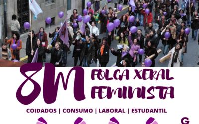 As mulleres da Plataforma Feminista Galega iremos á Folga Xeral Feminista o 8M