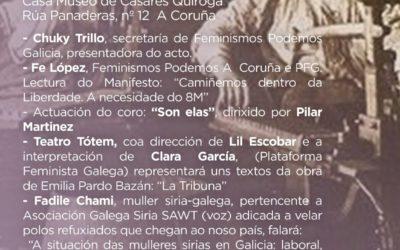 Acto entorno ao 8 de marzo en A Coruña